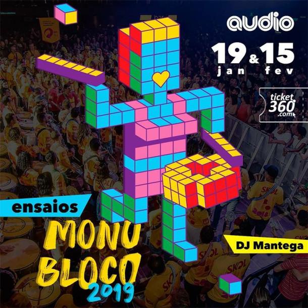 Ensaio para o Carnaval 2019 com Monobloco agitam a pista da Audio