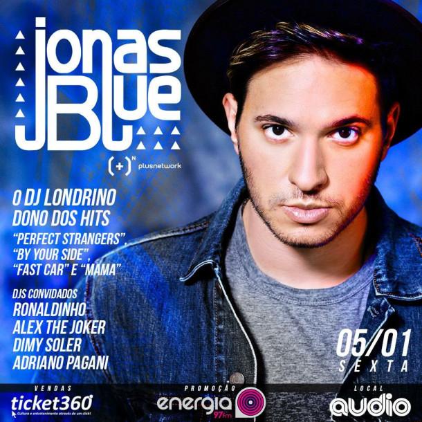 Jonas Blue agita a Audio com muita eletrônica