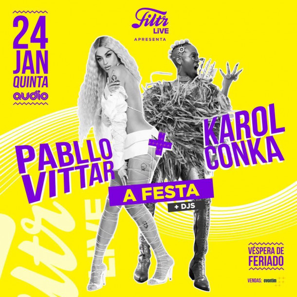 Pabllo Vittar e Karol Conka agitam noite com show na Audio