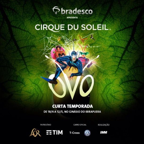 """""""Ovo"""", do Cirque du Soleil, estreia no país e chega a SP em abril"""
