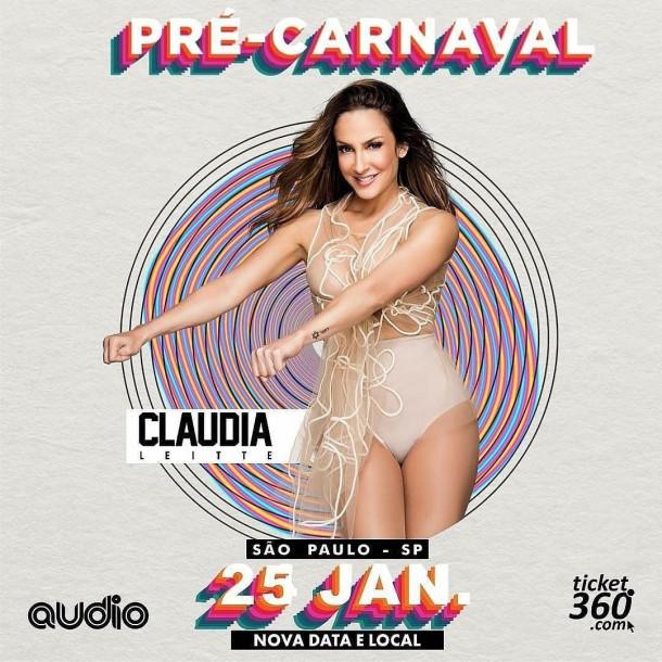 Claudia Leitte agita Pré Carnaval em São Paulo na Audio