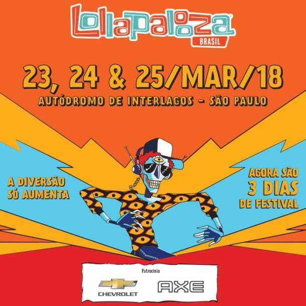 O Lollapalooza 2018 chega à oitava edição no país.
