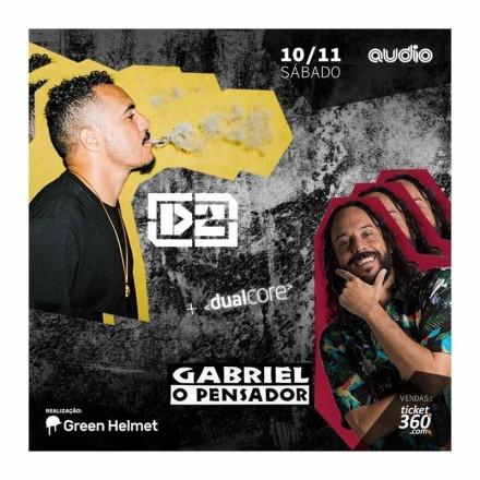 Gabriel O Pensador e Marcelo D2 dividem o palco da Audio com seus sucessos