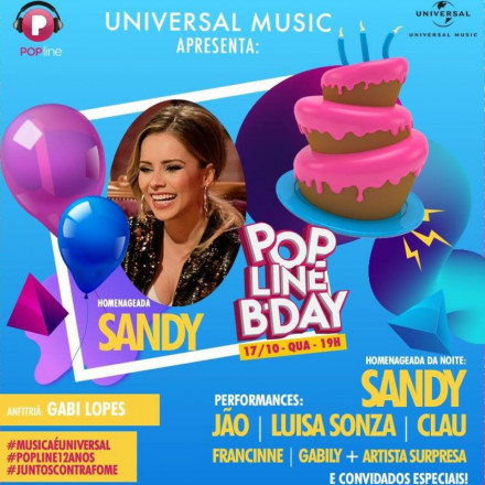 Sandy será a homenageada da festa POPlineBDay