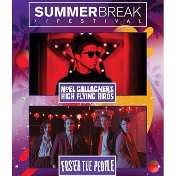 Summer Break Festival 2018 traz Noel Gallagher e Foster The People para o Brasil