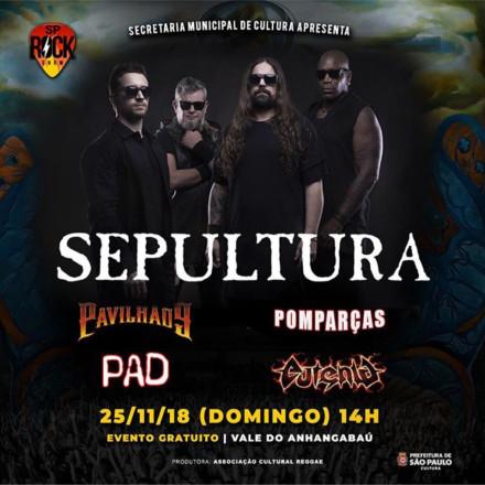 Uma das maiores bandas do Heavy Metal mundial, Sepultura se apresenta no Vale do Anhangabaú
