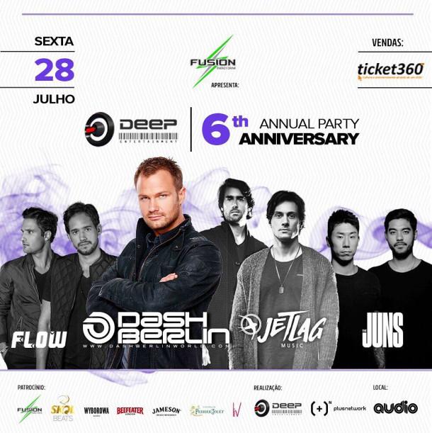 Dash Berlin fará única apresentação no Brasil na Audio Club