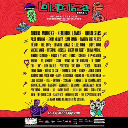Lollapalooza Brasil 2019 anuncia a programação dos palcos