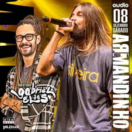 Armandinho e Gabriel Elias apresentam seus sucessos no palco da Audio